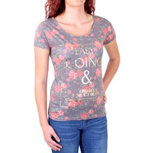 Madonna T-Shirt Damen FLOWI Easy Going Flower Print Shirt...