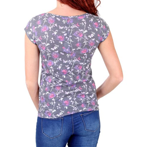 Madonna T-Shirt Damen FLOWI Beautiful Flower Print Shirt MF-408026-V2 Original