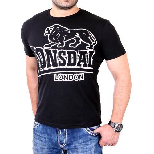 Lonsdale T-Shirt Herren LANGSETT Regular Fit Shirt LD-111262 Schwarz