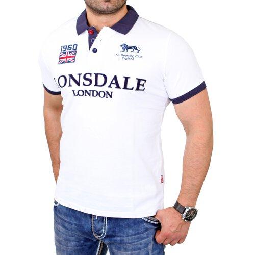 Lonsdale Poloshirt Herren GATLEY Slim Fit Shirt LD-114459 Weiß LD-114459