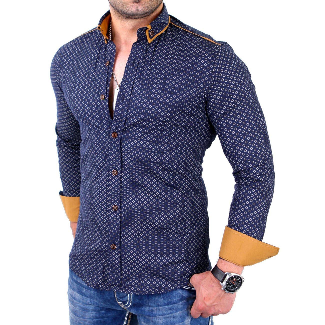 reslad hemd glencheck button down kragen g nstig kaufen. Black Bedroom Furniture Sets. Home Design Ideas