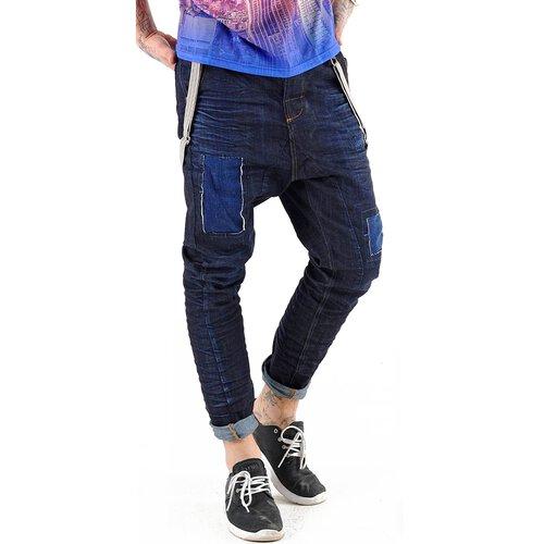 VSCT Jeans Herren Brad Slim Fit Rinsed mit Hosenträger V-5641529 Dunkelblau  ... e6bb7e1389