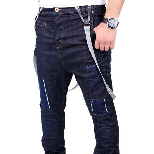 VSCT Jeans Herren Brad Slim Fit Rinsed mit Hosenträger V 5641529 Dunkelblau