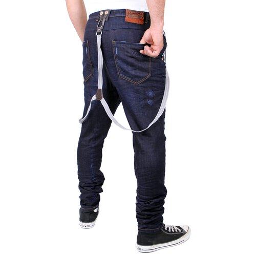 ... VSCT Jeans Herren Brad Slim Fit Rinsed mit Hosenträger V-5641529  Dunkelblau ... c74ee10a8d