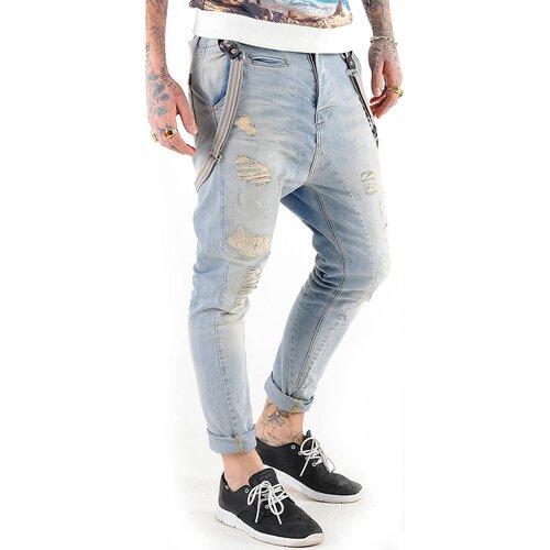 VSCT Jeans Herren Destroyed Brad Slim Fit mit Hosenträger V-5641535 Hellblau  ... 622a6e6e85