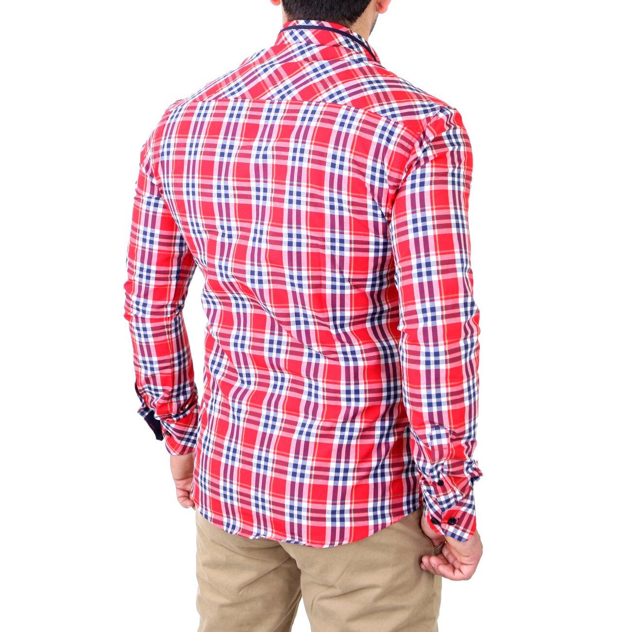 Reslad Herren Hemd Tartan Karo Design G Nstig Kaufen