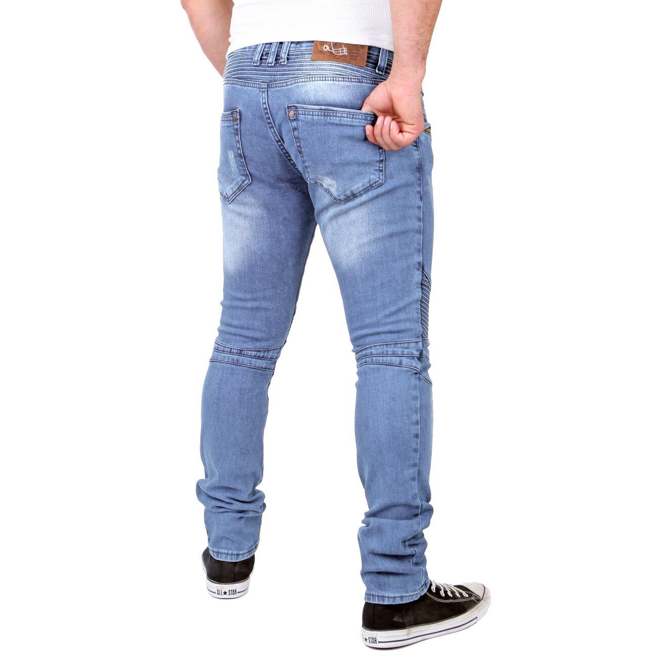skinny jeans m nner used look jeanshose rs 1166 g nstig. Black Bedroom Furniture Sets. Home Design Ideas