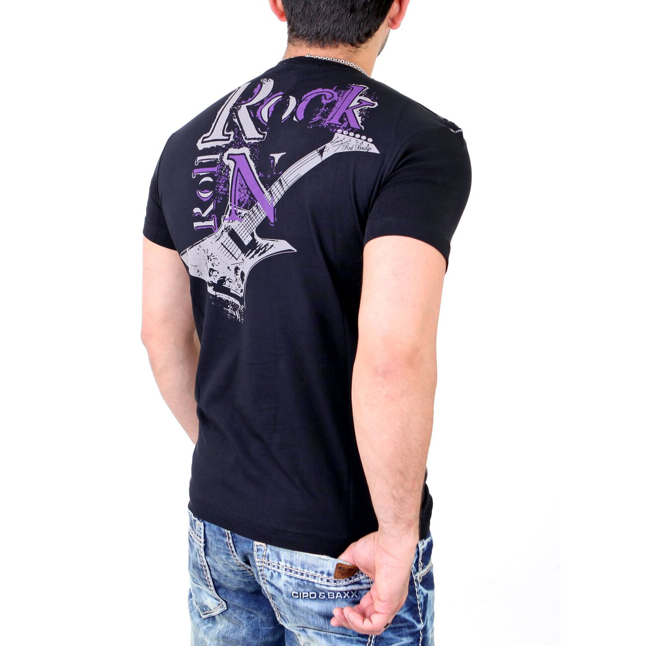 redbridge t shirt herren clubwear rock strass shirt rb 1364. Black Bedroom Furniture Sets. Home Design Ideas