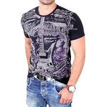 Redbridge T-Shirt Herren Clubwear ROCK Strass Shirt RB-1364