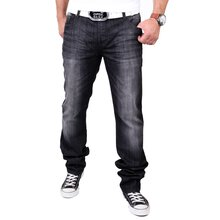 Tazzio Herren Jeans Dark Denim Used Look Jeanshose TZ-524...