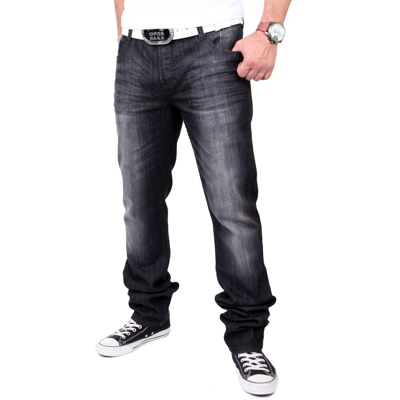tazzio herren jeans dark denim used look jeanshose tz 524. Black Bedroom Furniture Sets. Home Design Ideas