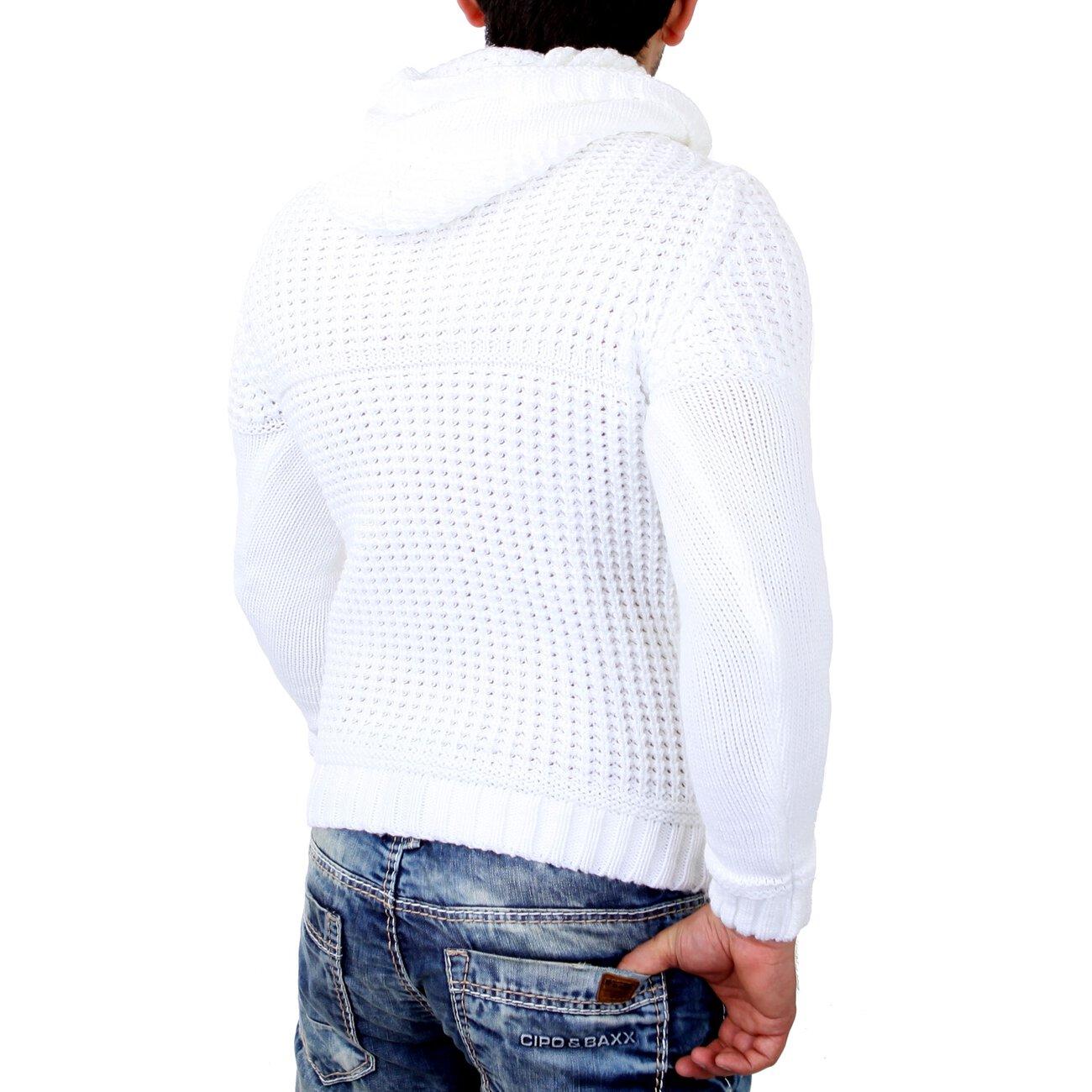 tazzio winter kapuzenpullover herren grobstrick pullover. Black Bedroom Furniture Sets. Home Design Ideas