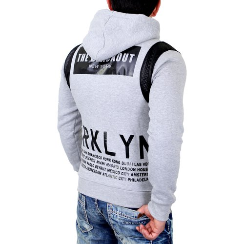 Madmext Sweatshirt Herren Kapuzen Pullover Money Killer Print MDX-1196