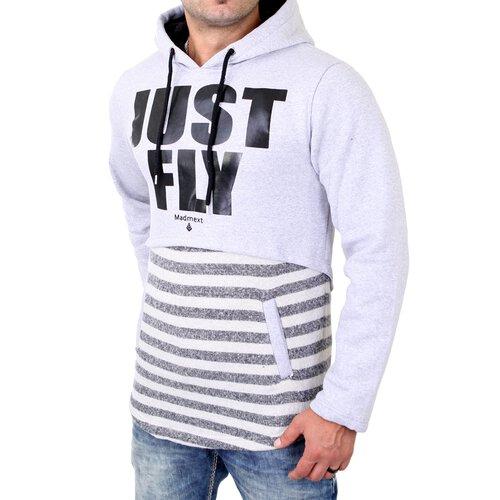 wholesale dealer fb9f0 64cf5 Madmext Sweatshirt Herren Material-Mix Kapuzen Pullover MDX-1170