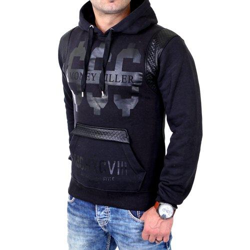 Madmext Sweatshirt Herren Kapuzen Pullover Money Killer Print MDX-1196 Schwarz 2XL MDX-1196-0005