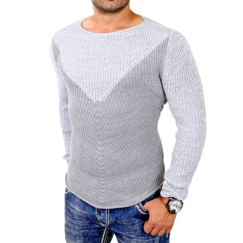 Redbridge Strickpullover Herren Rundhals Used Look Pullover RB-3001
