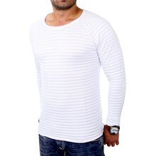 Redbridge Sweatshirt Herren Slim Fit Langarm Rundhals...