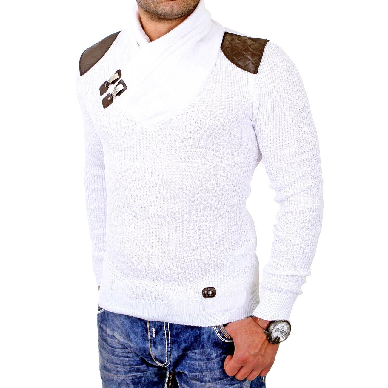redbridge sweatshirt herren schalkragen pullover schulter patches rb. Black Bedroom Furniture Sets. Home Design Ideas