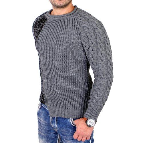 Wählen Sie für authentisch besserer Preis für am besten einkaufen Tazzio Strickpullover Herren Winter Grobstrick Pullover 2-farbig TZ-458