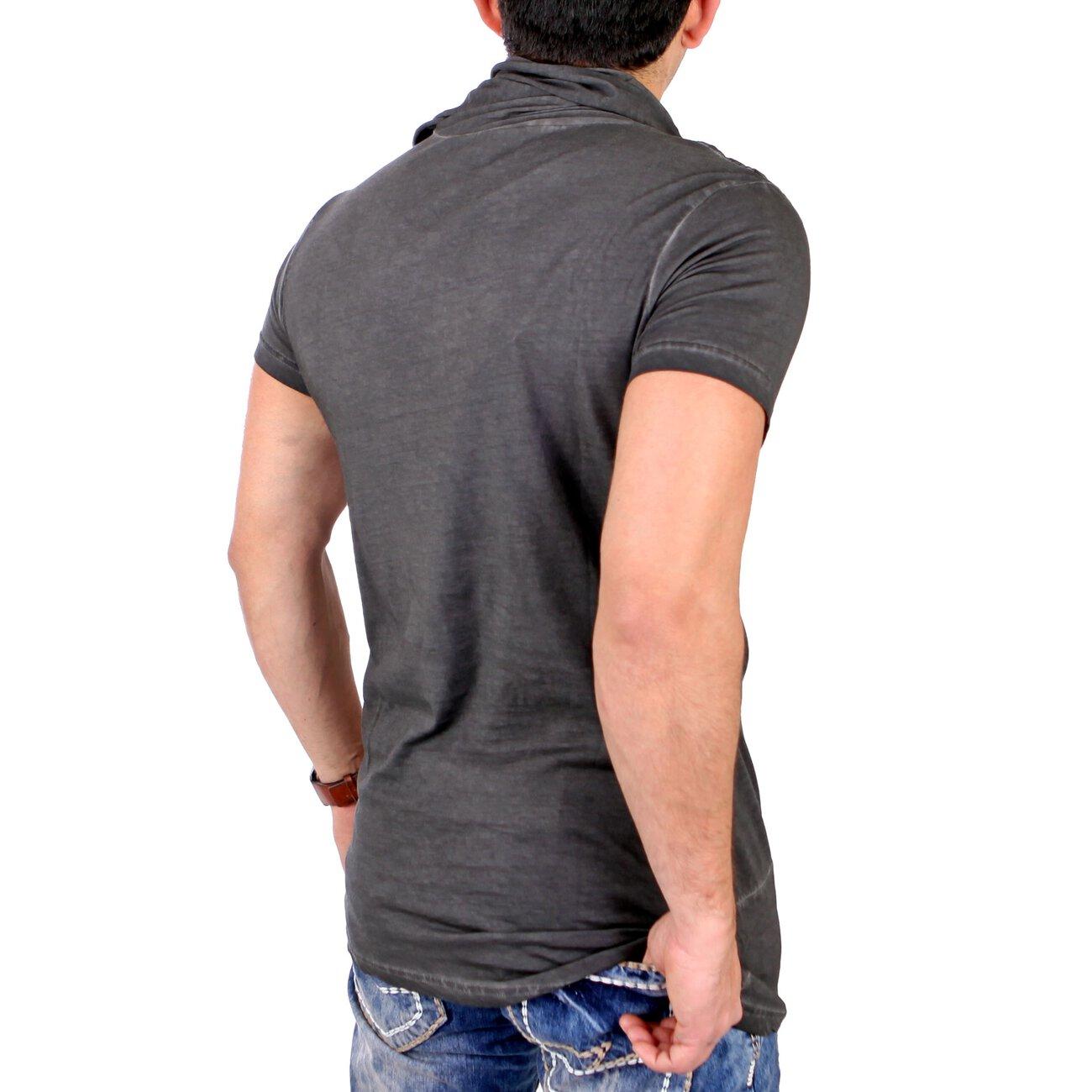 tazzio t shirt herren oversized long style schalkragen shirt tz 15144. Black Bedroom Furniture Sets. Home Design Ideas