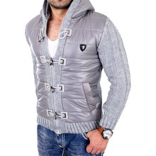 Cipo & Baxx Winterjacke Herren Double-Look Kapuzen Mix...