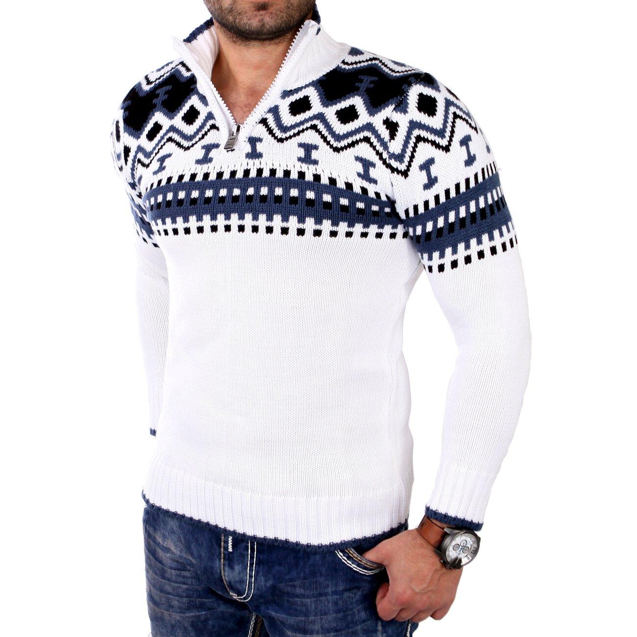 Reslad norweger pullover f r herren mit zipper g nstig for Norweger strickmuster