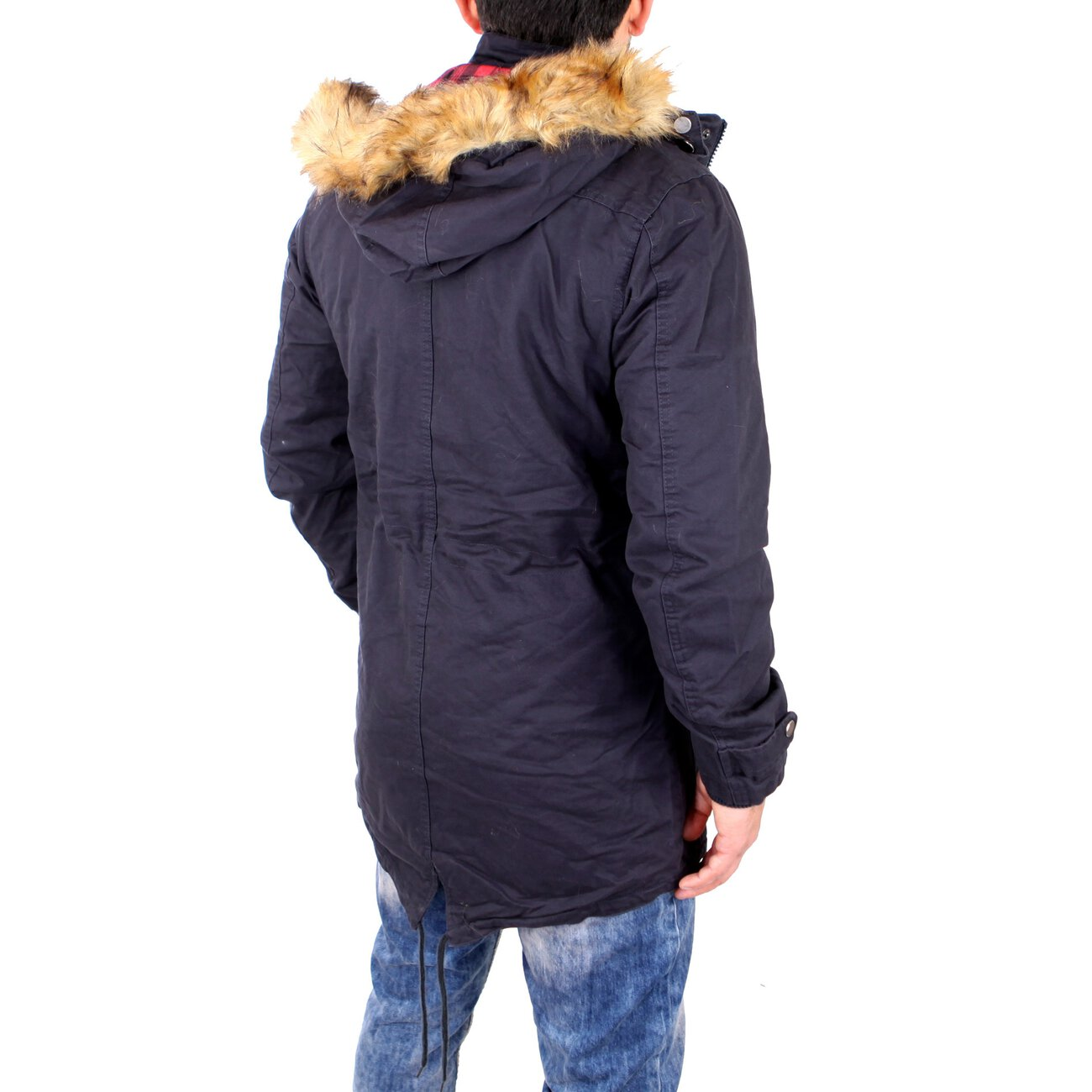 reslad parka herren winterjacke mit fellkapuze herrenparka. Black Bedroom Furniture Sets. Home Design Ideas