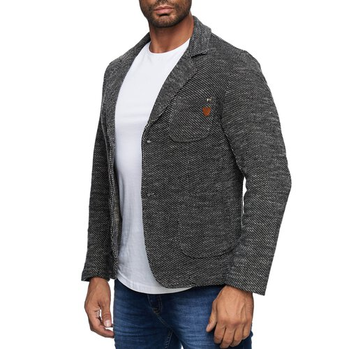 Reslad Herren Strickjacke Fancy Look Strick Jacke Sakko RS-1421