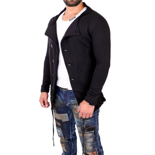 ReRock Sweatjacke Herren Long Style Fancy Look Blouson Jacke RR-22200