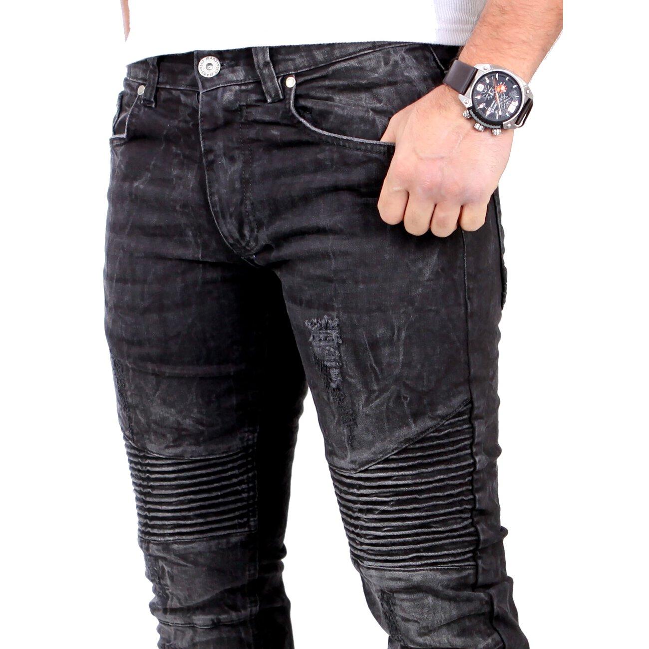 vsct jeans herren mad max black vintage biker look black. Black Bedroom Furniture Sets. Home Design Ideas