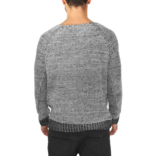 Urban Classics Strickpullover Wide Neck Sweater Pullover TB-659 Grau