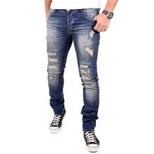 VSCT Jeans Herren Club Wear Alec Slim Fit Destroyed Denim...