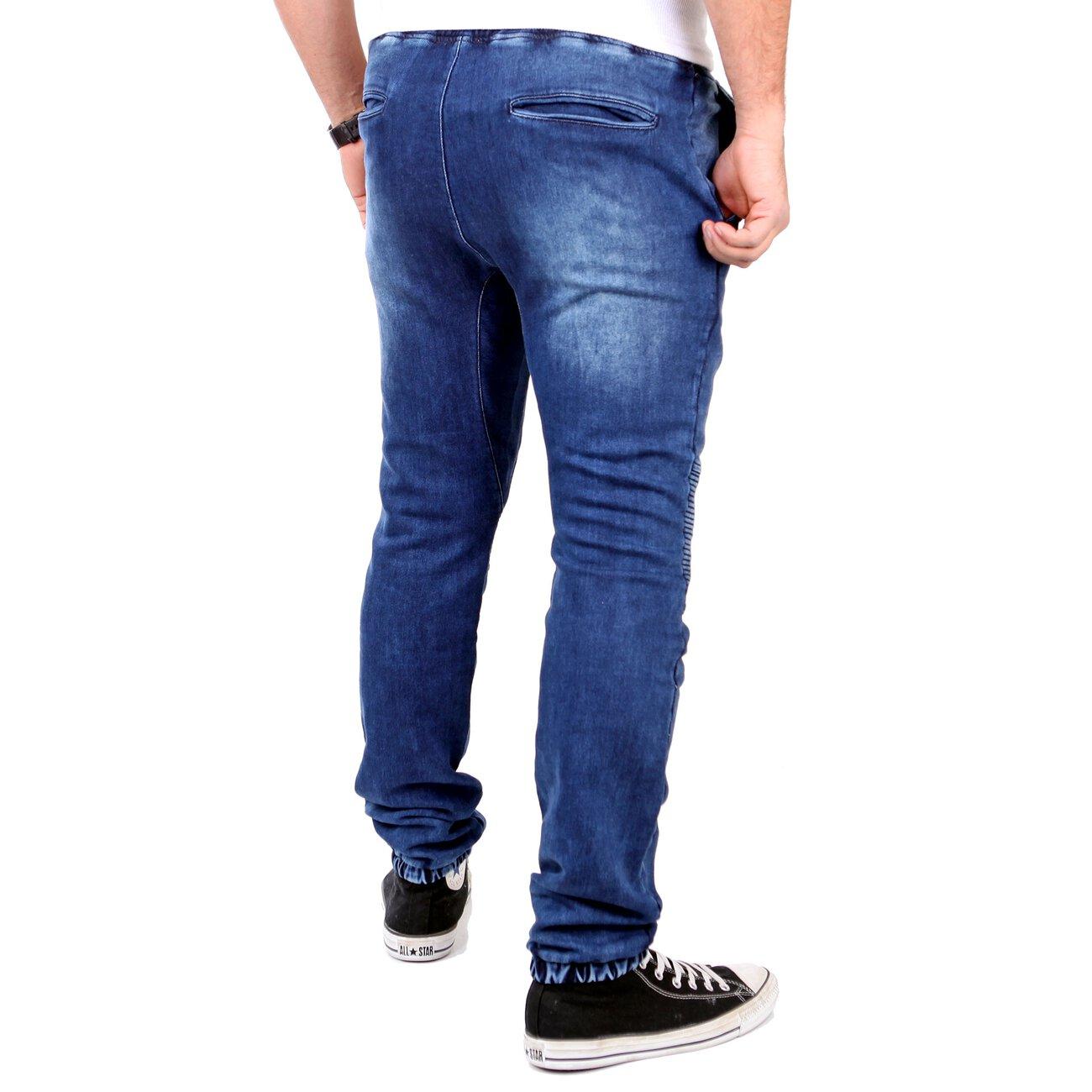 tazzio herren jeans jogginghose sweatpant jogg jeans biker. Black Bedroom Furniture Sets. Home Design Ideas