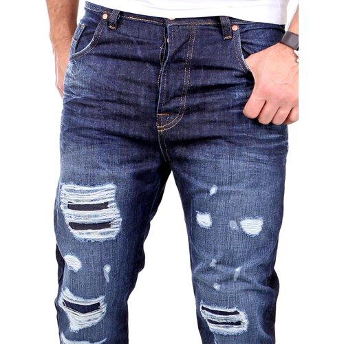 VSCT Herren Jeans Noah Cuffed Vintage Bleached Used Look V-5641223 Blau SALE
