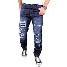VSCT Herren Jeans Noah Cuffed Watersave Destroyed...