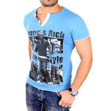 Young & Rich Herren T-Shirt Club Layer Style Kurzarm...