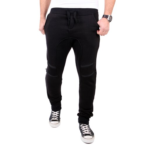 Reslad Jogginghose Herren Low Crotch Zipped Sweatpant Sporthose RS-318