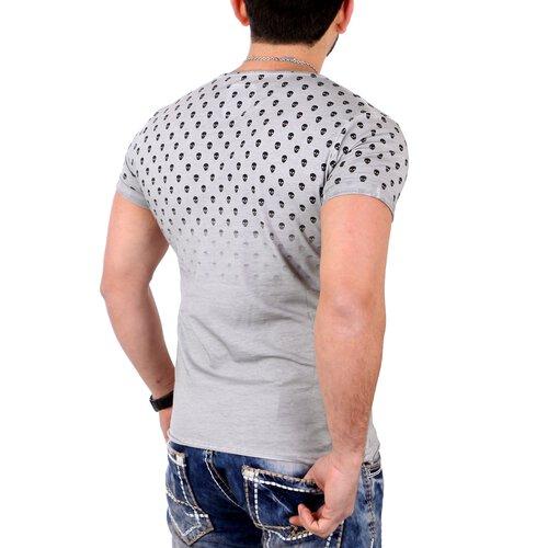 reslad t shirt vintage totenkopf print rundhals shirts. Black Bedroom Furniture Sets. Home Design Ideas