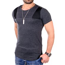 Reslad T-Shirt Herren Casual Look Rundhals Long Style...