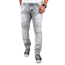 Reslad Jeans Herren Vintage Destroyed Slim Fit Jeanshose...