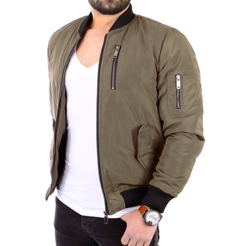 Reslad Herren Authentic Bomberjacke Flieger Piloten Zipper Jacke RS-9001