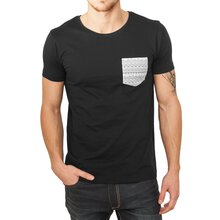 Urban Classics T-Shirt Herren Basic Contrast Pocket...