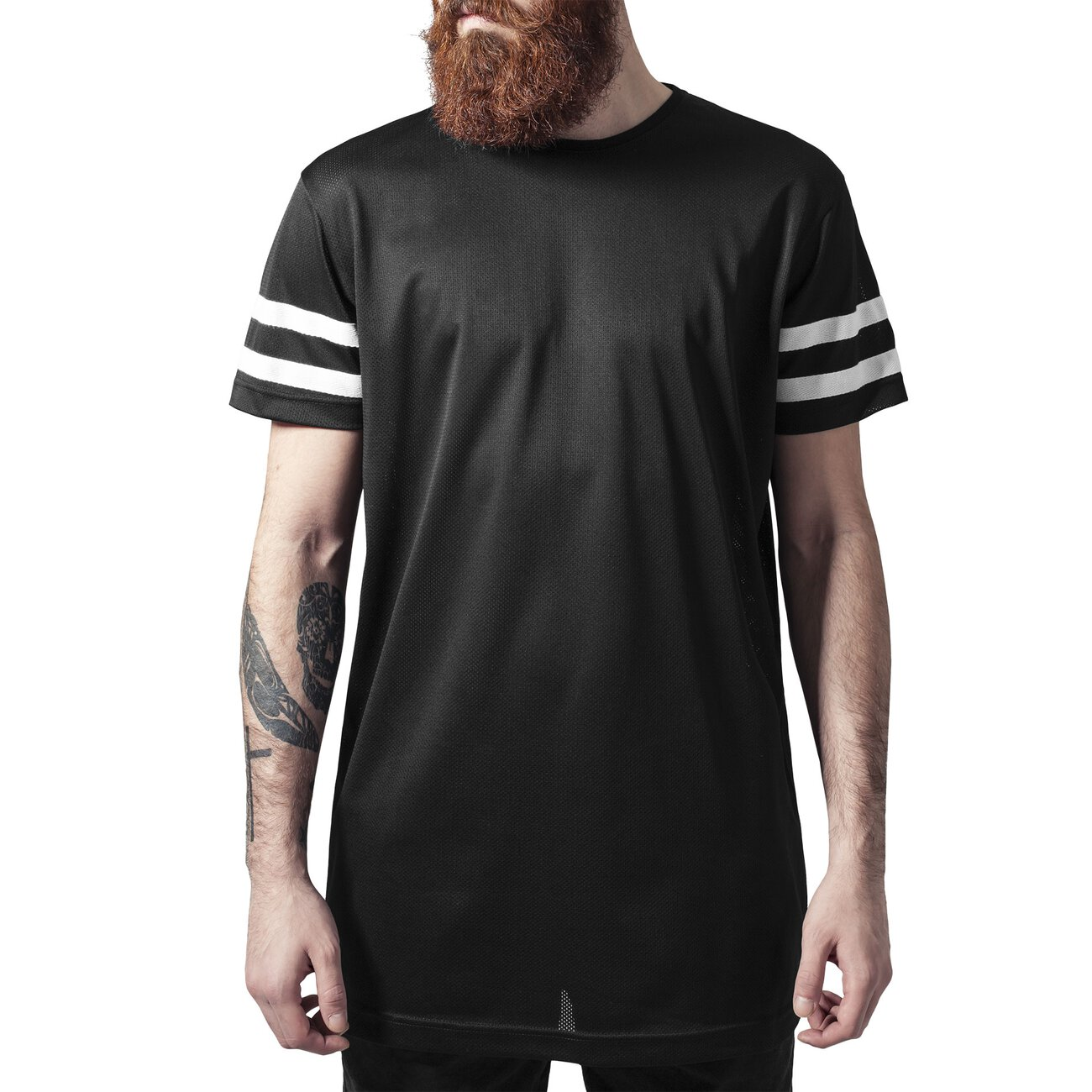 urban classics t shirt herren netz stripe mesh kurzarm. Black Bedroom Furniture Sets. Home Design Ideas