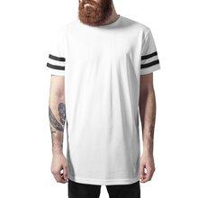 bbf8ed007300ca Urban Classics T-Shirt Herren Netz Stripe Mesh Kurzarm Shirt TB-1236  Weiß-Schwarz L