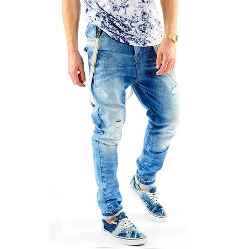 VSCT Jeans Herren Antifit Brad Solid Hosenträger Jeanshose V 5641370 Blau