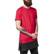 Urban Classics T-Shirt Herren Long Zipped Kunstleder Mix...