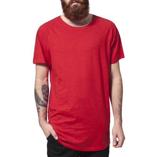 Urban Classics T-Shirt Herren Long Shaped Slub Raglan Kurzarm Shirt TB-968