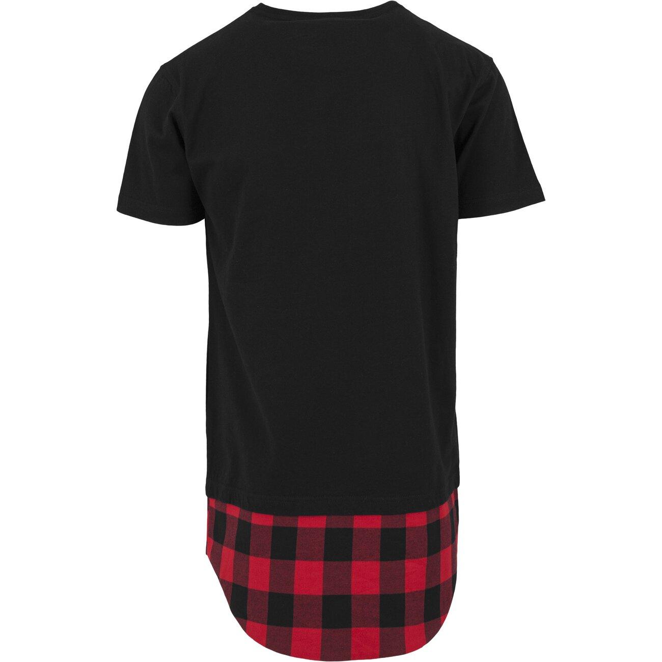 urban classics flanell t shirt bottom long shirt tb 1249 schwarz. Black Bedroom Furniture Sets. Home Design Ideas