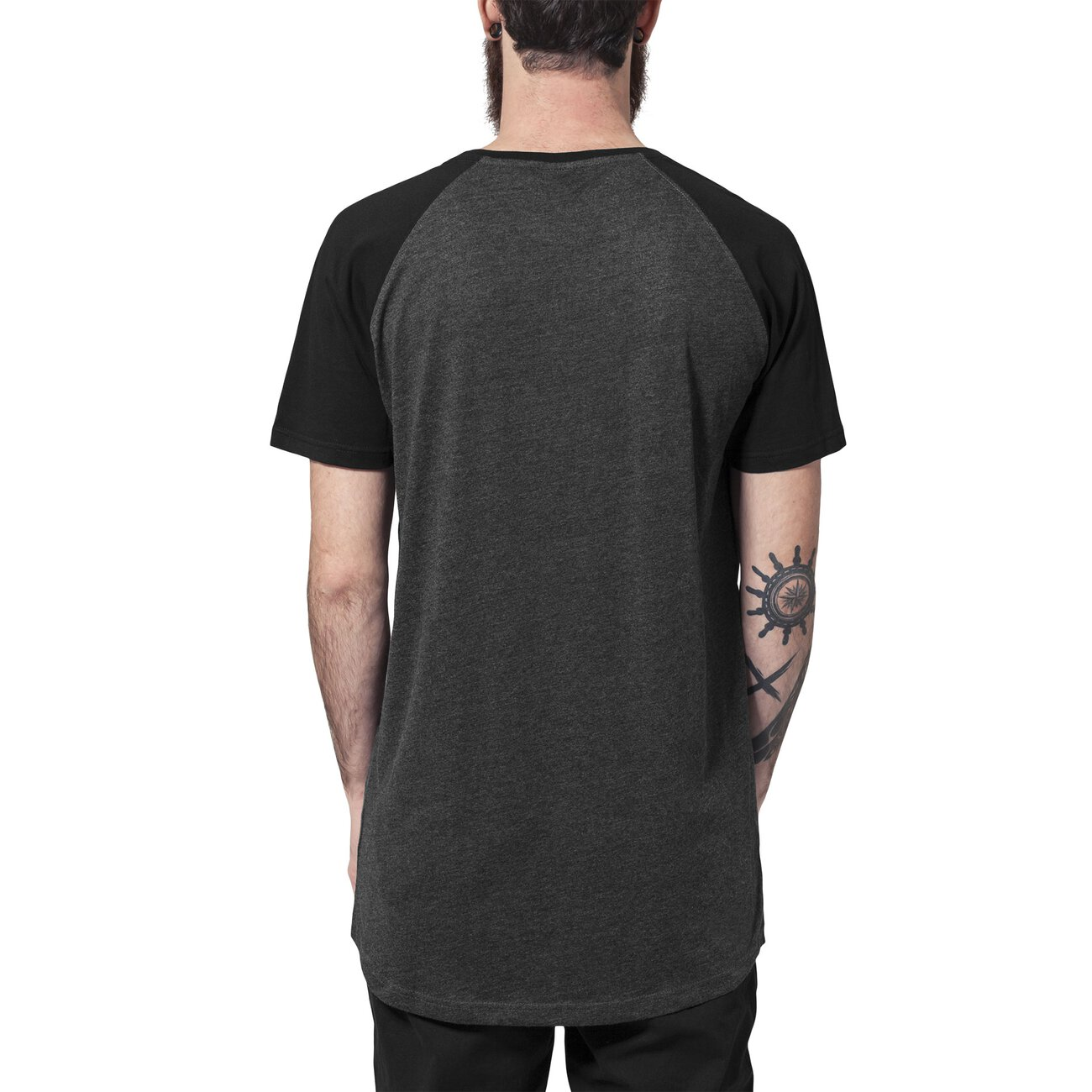 urban classics t shirt long style shaped basic raglan shirt tb 966. Black Bedroom Furniture Sets. Home Design Ideas