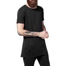 Urban Classics T-Shirt Basic Long Back Shaped Slub Shirt...
